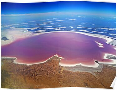 Lake Eyre - Aerial View by TonyCrehan