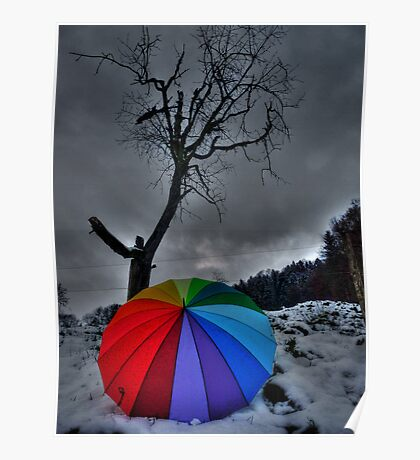 Snow Brolly Poster