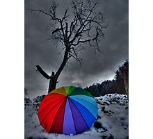 Snow Brolly Photographic Print