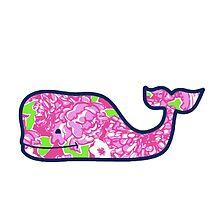 Pink Flower Whale by mreedd