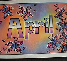 'April' personalised pic by FoxyArtz