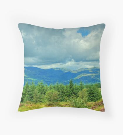 The View from Carron Crag Throw Pillow