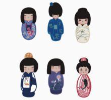 Kokeshi stickers 6 by Joumana Medlej