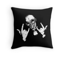 Devil Horns (White Version) Throw Pillow