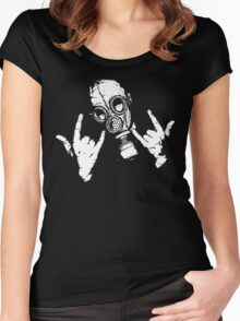 Devil Horns (White Version) Women's Fitted Scoop T-Shirt