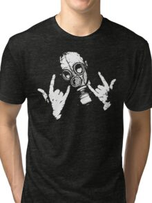 Devil Horns (White Version) Tri-blend T-Shirt