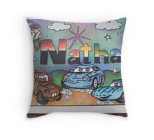 Nathan personalised picture Throw Pillow