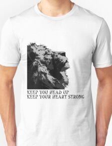 Lion head-keep your head up,keep your heart strong T-Shirt