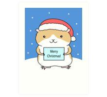 Santa Hamster Art Print