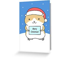 Santa Hamster Greeting Card