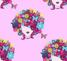 floral afro by gossiprag