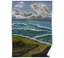 seascape at borth in wales Poster
