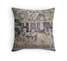 Shaun personalised picture Throw Pillow