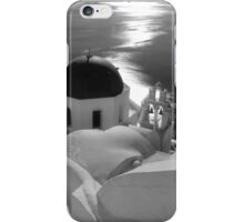 Stairway to Blue Domed Church ~ Black & White iPhone Case/Skin