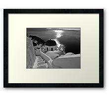 Stairway to Blue Domed Church ~ Black & White Framed Print