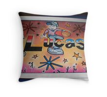 Lucas personalised picture Throw Pillow
