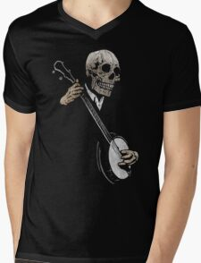 Skullboys' Banjo Blues Mens V-Neck T-Shirt