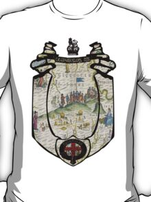 fosse manor hotel cotswolds UK (map and seal) T-Shirt