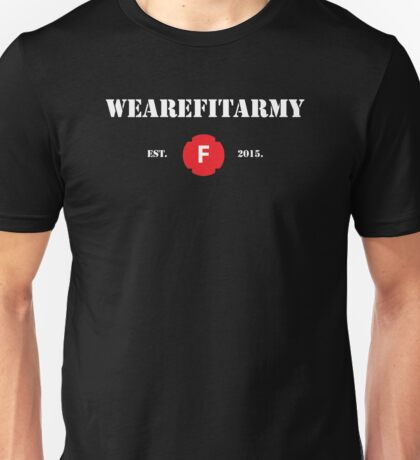 WAFA Fitted T-Shirt in Black/White/Red Unisex T-Shirt