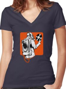 Spin Women's Fitted V-Neck T-Shirt