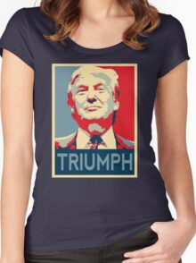 trump triumph Women's Fitted Scoop T-Shirt