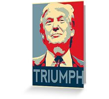 trump triumph Greeting Card