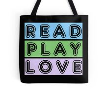 Read, play, love Tote Bag