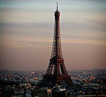 Eiffel Tower at Sunset by kbudz