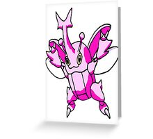 Shiny Heracross Greeting Card