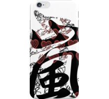 Arashi Random Scribble Red iPhone Case/Skin