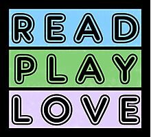 Read, play, love Photographic Print
