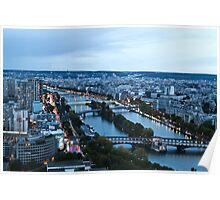 Seine River from Eiffel Tower Poster