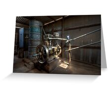 Shearing Shed Belt Drive Greeting Card