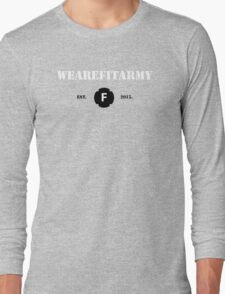 WAFA Fitted T-Shirt in Gray/White/Black Long Sleeve T-Shirt