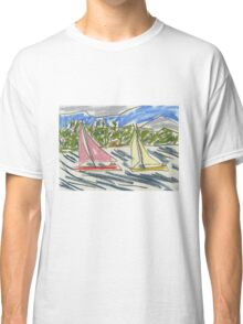 "Drawing: ""View from Nielsen Park (Sydney Harbour) IV (2015)"" by artcollect Classic T-Shirt"