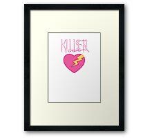 Killer Love Lightning. Framed Print