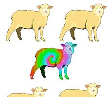 Tie Dyed Sheep by indusdreaming