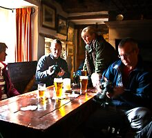 Busy Checking the Shots - Green Dragon Inn  by Trevor Kersley