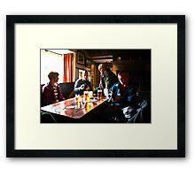 Busy Checking the Shots - Green Dragon Inn  Framed Print