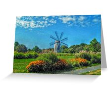 Boyd's Wind Grist Mill in Middletown, Rhode Island Greeting Card