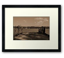 Fort Gates Ferry Landing Framed Print