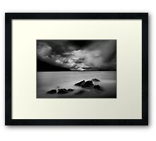 The song of the rocks Framed Print