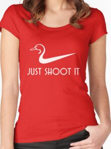 Just Shoot It Funny Duck Hunting Women's Fitted Scoop T-Shirt