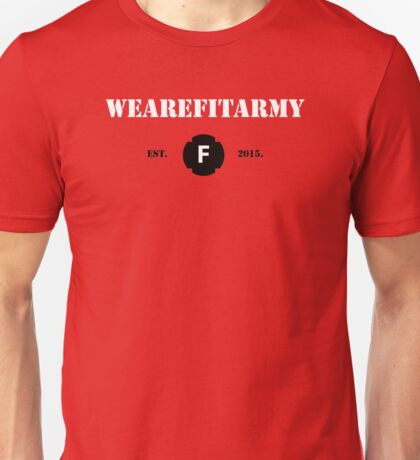WAFA Fitted T-Shirt in Red/White/Black Unisex T-Shirt