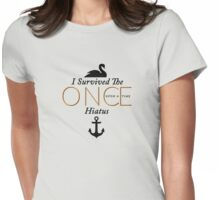 "I Survived the Once Upon a Time Hiatus ""Captain Swan Black Design"" Womens Fitted T-Shirt"