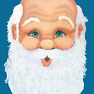 Santa Claus Christmas Card by Barbara Applegate