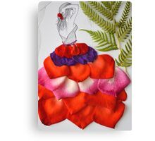 real petals gown Canvas Print