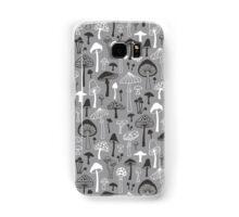 Mushrooms in Grey Samsung Galaxy Case/Skin