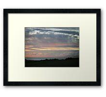 A simplistic dawn Framed Print