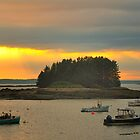 Sunset, Jonesport, Maine by fauselr